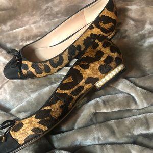 NWOB Karl Lagerfeld Leopard Ballet Flats